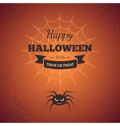 Spider web and text block vector
