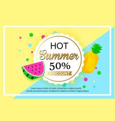 Summer sale background design for banner vector