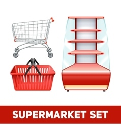Supermarket Realistic Set vector image