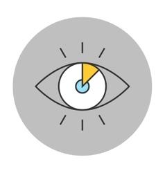 Vision concept line icon vector