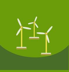 Wind turbine alternative energy resource nature vector
