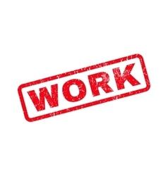 Work rubber stamp vector