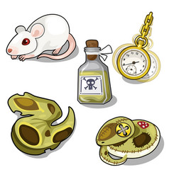 Set of laboratory tests and hypnosis vector