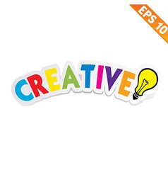 Creative sticker - - eps10 vector
