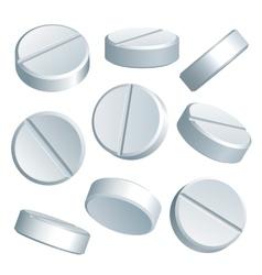 Medical pills vector