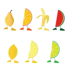 Fruit with legs vector