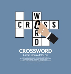 Flat Design Crossword vector image