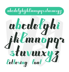 Hand drawn calligraphic font vector