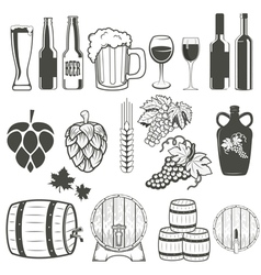 Beer and wine vector
