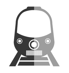 Train icon in black and white colors vector