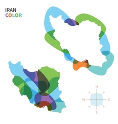 Abstract color map of iran vector