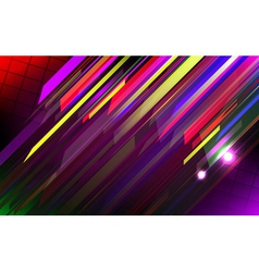 Abstract lines design on dark background vector image vector image