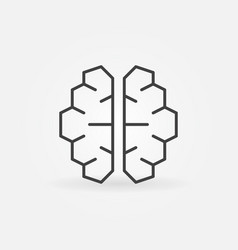 ai cyberbrain icon - artificial vector image