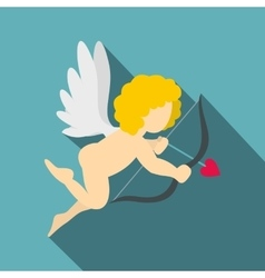 Amur or cupid icon flat style vector