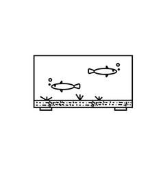 aquarium fish icon vector image vector image
