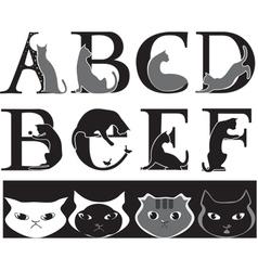 cat font vector image vector image