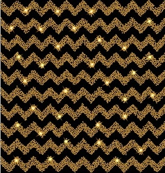 Chevron gold glow background with stars vector image