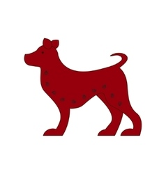 Chinese zodiac symbol red dog vector