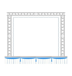Color flat design sectional concert metal stage vector