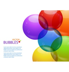 colourful bubble background landscape and text vector image