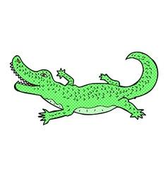 Comic cartoon crocodile vector