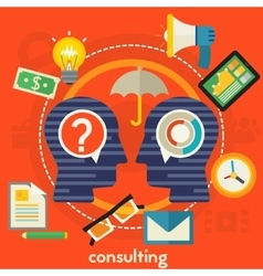 Consulting concept vector