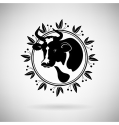 Cow Icon vector image vector image