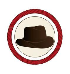 cowboy hat wild west icon vector image vector image
