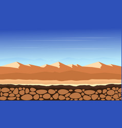 Desert game background landscape vector