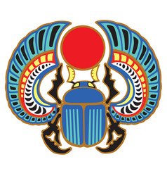 Egyptian scarab beetle vector