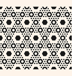 geometric pattern hexagons in hexagonal grid vector image vector image
