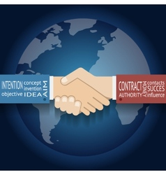 International Partnership Icon Businessman vector image vector image
