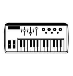 Keyboard musical instrument icon image vector