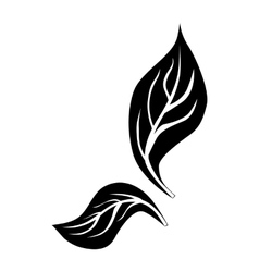 Leaves icon simple style vector image