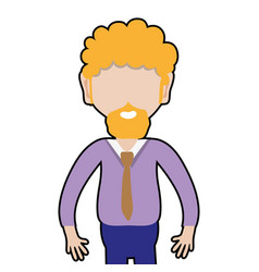 Man with beard and elegant clothes vector