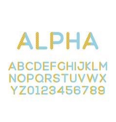 modern stylized font alphebet vector image vector image