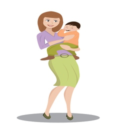 mother holding a child vector image vector image