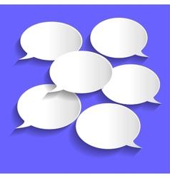 Paper chat bubbles vector