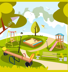 Park and playground cartoon vector