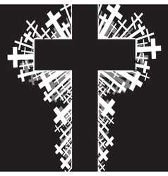 religious cross background vector image vector image