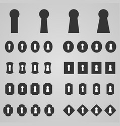 set of keyholes vector image vector image