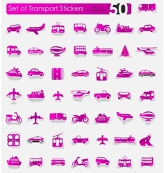 Set of transport stickers vector image vector image