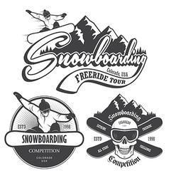 Snowboard 1 vector image vector image
