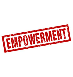 Square grunge red empowerment stamp vector