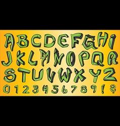 Street graffiti style font alphabet vector