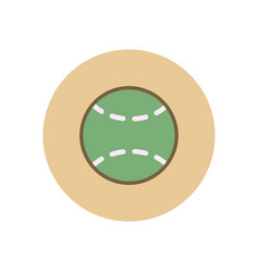 Stylish icon in color circle tennis ball vector