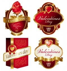 Valentine's frames vector image vector image
