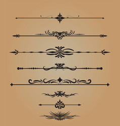 Vintage decorations elements flourishes vector