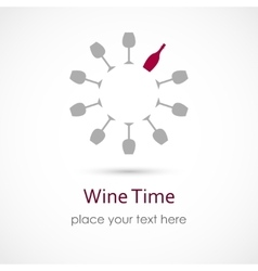 Wine Time vector image