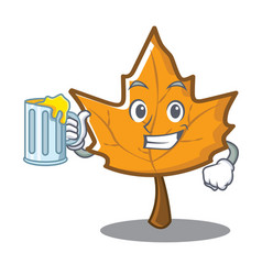 With juice maple character cartoon style vector